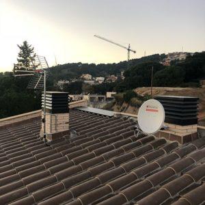 instalación de antena de televisión y satélite