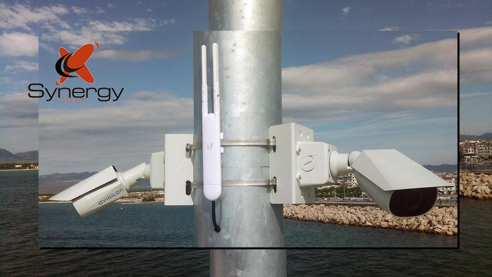 camaras y sistema wifi en puerto