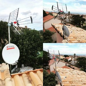 synergy, instalacion antena UHF y SAT